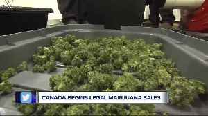 Canada begins legal marijuana sales