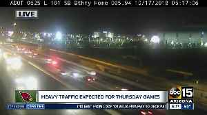 Heavy traffic expected for Thursday night football games [Video]