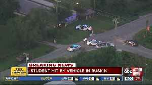Student sent to hospital after being hit by vehicle in Ruskin [Video]