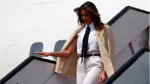 Melania Trump's Plane Was Forced To turn Around After Reports Of Smoke In The Cabin [Video]