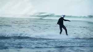 Wakeboarder rides Greenland's icebergs [Video]