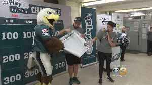Philadelphia Eagles Join Pep Rally At Francis Scott Key School [Video]