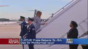 First Lady Melania Trump's Plane Lands Safely After 'Mechanical Issue'