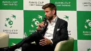 Gerard Pique unveils new Davis Cup [Video]