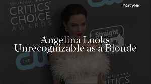 Angelina Looks Unrecognizable as a Blonde [Video]