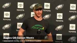 VIDEO: Eagles QB Carson Wentz believes last Thursday night's win signified something greater [Video]