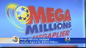 Mega Millions Jackpot Goes Up Again Ahead Of Friday's Drawing [Video]