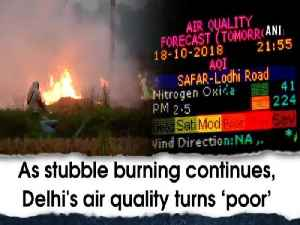 As stubble burning continues, Delhi's air quality turns 'poor' [Video]