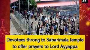 Devotees throng to Sabarimala temple to offer prayers to Lord Ayyappa [Video]