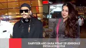 Ranveer And Sara Wrap Up Simmba's Swiss Schedule [Video]