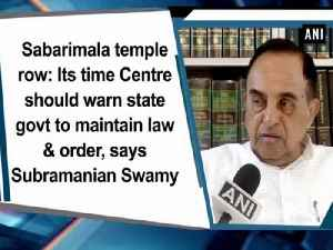 Sabarimala temple row: Its time Centre should warn state govt to maintain law and order, says Subramanian Swamy [Video]