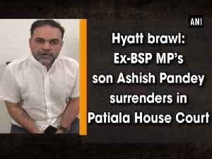 Hyatt brawl: Ex-BSP MP's son Ashish Pandey surrenders in Patiala House Court [Video]