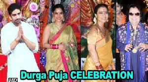 Kajol, Sumona, Ayan CELEBRATE Durga Puja with Bappi Lahiri [Video]
