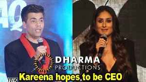 Kareena hopes to be CEO of Karan's Dharma Productions [Video]
