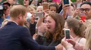 Teen brought to tears by Harry hug [Video]