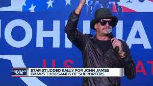 John James holds Pontiac rally attended by Kid Rock, Trump Jr., and other celebrities [Video]