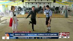Travis Tries It: Traditional German Dance [Video]