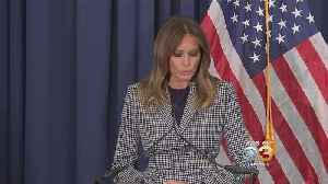 First Lady Melania Trump Meeting With Families Affected By Opioid Epidemic At Philadelphia Hospital Following Plane Scare [Video]