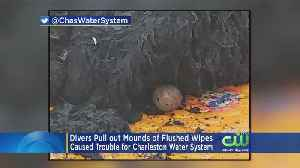 Divers Pull Mounds Of Flushed Wipes From Water System [Video]