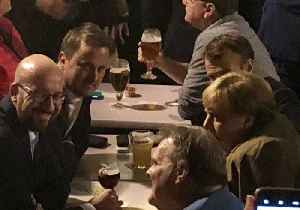 EU Leaders Bond Over Beer After a Hard Day of Brexit Talks [Video]