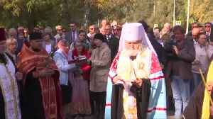 Town of Kerch mourns victims as church service held at site of mass killing [Video]