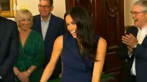 Meghan Markle's Surprised Giggles Prove the Newlyweds Really Are That Cute [Video]