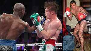 Mayweather Trolls De La Hoya For Being A Crossdresser & Canelo For Being A Cheater! [Video]