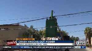 Truck crashes into power pole near Sahara, Industrial [Video]