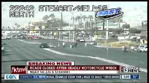 Nellis Boulevard closed after motorcyclist killed in crash [Video]