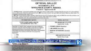 Voting Registration Ends Tomorrow [Video]