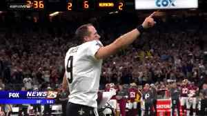Drew Brees record setting football on display at Pro Football Hall of Fame [Video]