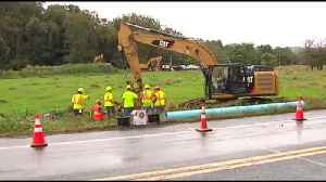 Pa. American Water company finds location of water main break [Video]