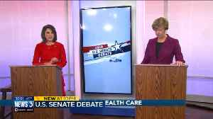Vukmir, Baldwin spare over health care, supreme court in senate debate [Video]