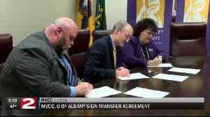 MVCC signs new transfer agreement with UAlbany [Video]