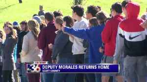 Thousands line the streets to welcome home Scott County Sheriff's Deputy Jaime Morales [Video]