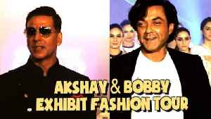 Akki & Bobby Walk for The Exhibit Fashion Tour | Bollywood | News and Gossips | Latest Updated [Video]