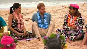 Prince Harry and Meghan join surfing group at Bondi Beach [Video]