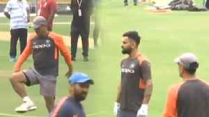 India VS West Indies 1st ODI: Team India sweat it out ahead of 1st ODI | वनइंडिय&#x93E [Video]
