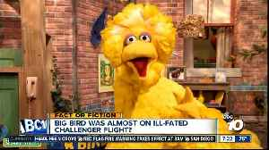 Big Bird was almost on the Challenger? [Video]