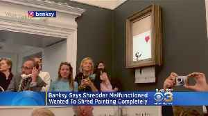 Banksy Admits Shredded Painting Didn't Go Entirely As Planned [Video]