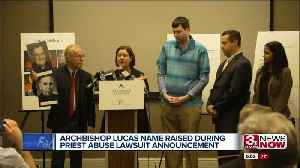 Archbishop Lucas named at announcement of priest abuse lawsuit [Video]