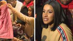 Cardi B Hands Out Free Winter Coats to Fans in Brooklyn [Video]
