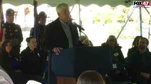 Ground breaking ceremony for fallen officer memorial in Lansing [Video]
