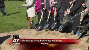 Fallen officers memorial ground breaking [Video]