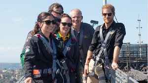 Prince Harry Couldn't Stop Smiling As He Scaled Sydney Harbour Bridge [Video]