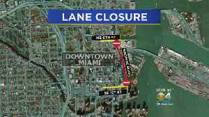 Biscayne Blvd. Lane Closures This Weekend [Video]