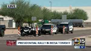 City of Mesa getting ready for President Trump's rally tonight [Video]