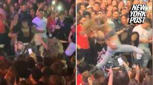 Hair pulled and punches thrown during rap concert [Video]