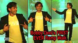 Watch Bobby Deol's FIRST EVER Ramp Walk [Video]