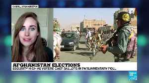 Afghan election turnout likely to be low due to technical problems and bombings [Video]